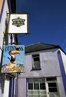Pub Signs, Eyeries Village, Beara Peninsula, County Cork, Ireland Fine Art Print