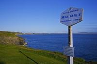 Anachronistic Sign, Guillamene Swimming Cove, Tramore, County Waterford, Ireland Fine Art Print