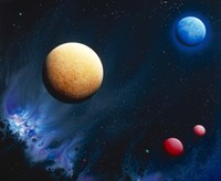 """Conceptualized universe with planets by Panoramic Images - 24"""" x 20"""""""