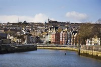 """Kneeling Canoe, River Lee, Cork City, Ireland by Panoramic Images - 36"""" x 24"""""""
