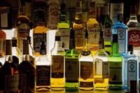 "Bottles of Liquor, De Luan's Bar, Ballydowane, County Waterford, Ireland by Panoramic Images - 16"" x 11"""