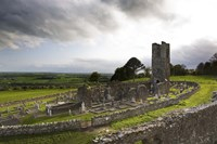 Remains of the Church on St Patrick's Hill, Slane, Co Meath, Ireland Fine Art Print