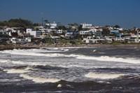"""Buildings at the waterfront, Playa La Boca, La Barra, Punta Del Este, Maldonado, Uruguay by Panoramic Images - 24"""" x 16"""""""