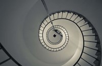"Spiral staircase in a lighthouse, Cabo Santa Maria Lighthouse, La Paloma, Rocha Department, Uruguay by Panoramic Images - 24"" x 16"", FulcrumGallery.com brand"