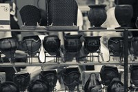 """Row of Mate Cups at a Market Stall in Plaza Constitucion, Montevideo, Uruguay by Panoramic Images - 24"""" x 16"""" - $34.99"""