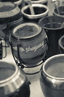"""Close Up of Mate Cups at a Market Stall, Plaza Constitucion, Montevideo, Uruguay by Panoramic Images - 16"""" x 24"""""""