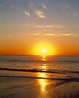 """Sunrise over the sea by Panoramic Images - 29"""" x 36"""", FulcrumGallery.com brand"""