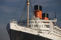 """Rms Queen Mary cruise ship at a port, Long Beach, Los Angeles County, California, USA by Panoramic Images - 24"""" x 16"""", FulcrumGallery.com brand"""