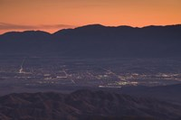 """Coachella Valley and Palm Springs from Key's View, Joshua Tree National Park, California, USA by Panoramic Images - 24"""" x 16"""""""