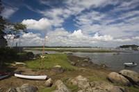 "Rocks on the coast, Annisquam Harbor Light, Gloucester, Cape Ann, Massachusetts, USA by Panoramic Images - 24"" x 16"""