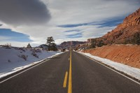 """Highway passing through a landscape, Utah State Route 24, Capitol Reef National Park, Torrey, Wayne County, Utah, USA by Panoramic Images - 24"""" x 16"""""""