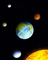 """Universe with planets by Panoramic Images - 29"""" x 36"""" - $58.49"""