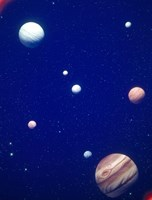 """Conceptualized solar system with planets, Jupiter in foreground by Panoramic Images - 28"""" x 36"""""""