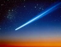 Space, Comet speeding across the night sky Fine Art Print