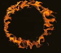 Flamed Circle on Black Background Fine Art Print
