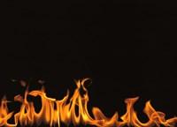 Flames on Black Background Fine Art Print