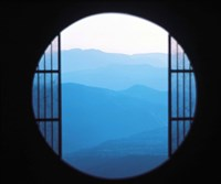 "View of Hazy Blue Mountain Ranges by Panoramic Images - 36"" x 30"""