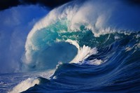 "Brilliant Blue Waves (side view) by Panoramic Images - 42"" x 28"""