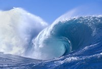 "Bright Blue Wave with Giant Splash by Panoramic Images - 42"" x 29"""