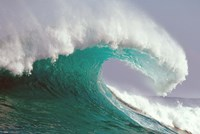 """Crashing Green and White Wave by Panoramic Images - 42"""" x 28"""""""