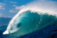 """Crahsing Wave (Side View) by Panoramic Images - 42"""" x 28"""""""