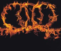 """Rings of Flames by Panoramic Images - 16"""" x 14"""""""