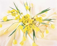"Arranged yellow flowers by Panoramic Images - 36"" x 29"""