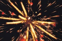 """Ignited Fireworks against a Night Sky by Panoramic Images - 24"""" x 16"""""""