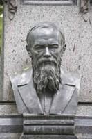 Grave of Fyodor Dostoevsky at Tikhinskoye Kladbistse the Tikhvin Cemetery, St. Petersburg, Russia Fine Art Print