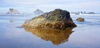 """Rock formations in the sea, Bandon, Oregon, USA by Panoramic Images - 24"""" x 12"""" - $30.49"""