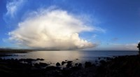 """Cumulus clouds over the sea, Gold Coast, Dungarvan, County Waterford, Republic Of Ireland by Panoramic Images - 36"""" x 20"""""""