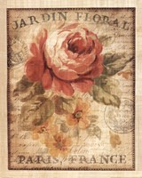 Parisian Flowers II Fine Art Print