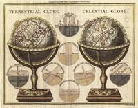 "Antique Globes by Wild Apple Portfolio - 28"" x 22"", FulcrumGallery.com brand"
