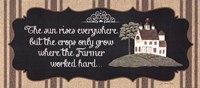 "The Farmer by Jo Moulton - 18"" x 8"", FulcrumGallery.com brand"