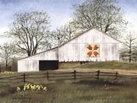 Tulip Quilt Block Barn Fine Art Print