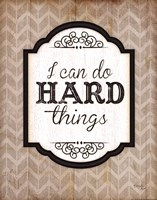 I Can Do Hard Things Framed Print