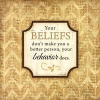 "Your Beliefs by Jennifer Pugh - 12"" x 12"""