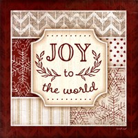 Joy to the World - Red Framed Print