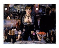 A Bar at the Folies-Bergere by Edouard Manet - various sizes, FulcrumGallery.com brand