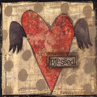 Blessed Heart with Wings Fine Art Print