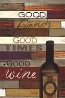 Good Wine Framed Print