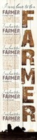 I Was Born to be a Farmer - White Framed Print