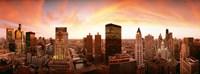Sunset Skyline Chicago IL Fine Art Print