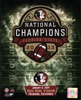Florida State Seminoles 2014 BCS National Champions Team Logo Fine Art Print
