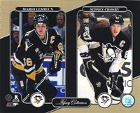 Mario Lemieux & Sidney Crosby Legacy Collection Framed Print