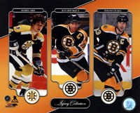 Bobby Orr, Ray Bourque, & Zdeno Chara Legacy Collection Fine Art Print