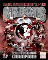 Florida State University Seminoles All Time Greats Composite Fine Art Print
