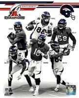 Denver Broncos 2013 AFC Champions Team Composite Fine Art Print