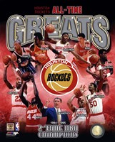Houston Rockets All-time Greats Composite Fine Art Print