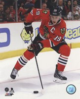 Jonathan Toews 2013-14 Action in hockey Fine Art Print